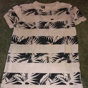 Superdry white and blk shirt size small